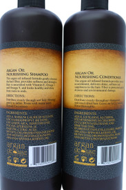 Argan Deluxe Professional Moroccan Oil Shampoo and Conditioner Set (2 x 33oz.) Ultra Hydrating & Moisturizing, Salon Quality for Men & Women All Hair Types