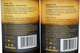 Argan Deluxe Professional Wash & Go Bundle w/Shampoo, Conditioner, Curl Cream, and Gel