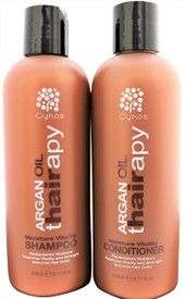Argan Thairapy shampoo and conditioner bonus set (2 x 8oz.) features 100% pure Argan Oil that's imported from Morocco to ensure that your hair receives supreme care. Provides superior protection, moisture, and a lasting shine. Nourishes, hydrates, and strengthens the hair. Restores split ends, breakage and dryness using of moisture rich ingredients , and essential amino acids. Infused with Vitamin E, Omega 3 and collagen Amino acids for stronger healthier shiny hair. Promotes healing of hair Blocks the effects of humidity. Great for all hair types.. MADE WITH THE HIGHEST QUALITY ARGAN OIL – Argan Oil (Argania Spinosa) is widely known as one of the most effective ingredients in all of hair care, but don't just settle for any product that claims to have Argan Oil in it.