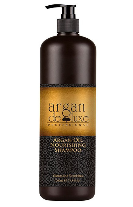Argan Oil Nourishing Shampoo Cleans and Nourishes This Argan Oil shampoo gently cleanses the hair fiber, provides softness and detangles.  Hair is nourished with Vitamin E, Omega 3 and Omega 9, and looks healthy and shiny from roots to ends. 32 oz.