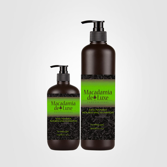 Macadamia Nourishing Shampoo is designed to all hair types and is excellent for dry, damaged hair. Gently cleanses chemically treated, damaged hair. Replenishes moisture with no heavy build-up. Protects from harsh daily environmental elements.  Directions Apply to wet hair and lather with a gentle massaging motion. Rinse thoroughly and repeat if necessary. 32 oz.