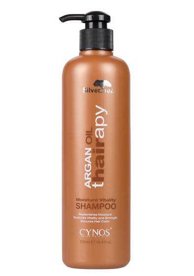 Vitality Shampoo gently cleanses the hair without stripping color. The Vitamin E, Omega 3, and Omega 9 in argan oil helps restore vitality and strength of damaged hair. DIRECTIONS:  Apply Silvertree Argan Oil Moisture Vitality Shampoo to wet hair and lather with a gentle massaging motion. Rinse thoroughly and repeat if necessary. 32 oz.