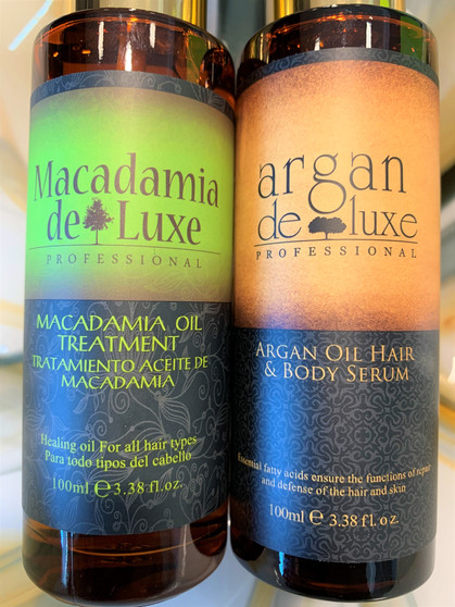 Macadamia Oil Serum & Moroccan Argan Oil Serum Hair and Body Set