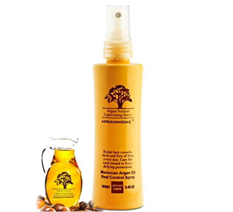 Keeps hair smooth,sleek and free of frizz every day. Care for each strand in frizz-defying protection.  Directions:  Arganmidas Moroccan Argan Oil Real Control Spray is a must for all hair prone to frizz, whether it's natural, dry, curly or straight. It eliminates frizz and controls static in any weather. Its weather-resistant properties weightlessly safeguard hair whether you have winter hair (in excessively dry conditions) or summer hair (in excessively humid conditions) keeping it smooth, calm and manageable.  Spray approximately 10 inches from clean, towel-dried hair and comb through.Style as usual or allow hair to dry naturally.