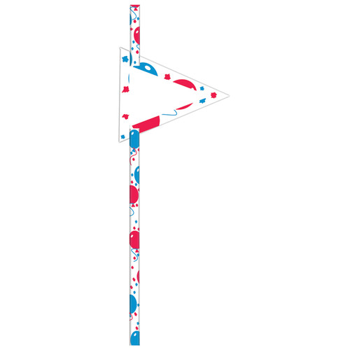 Red/Blue 19cm Straws [24pcs]