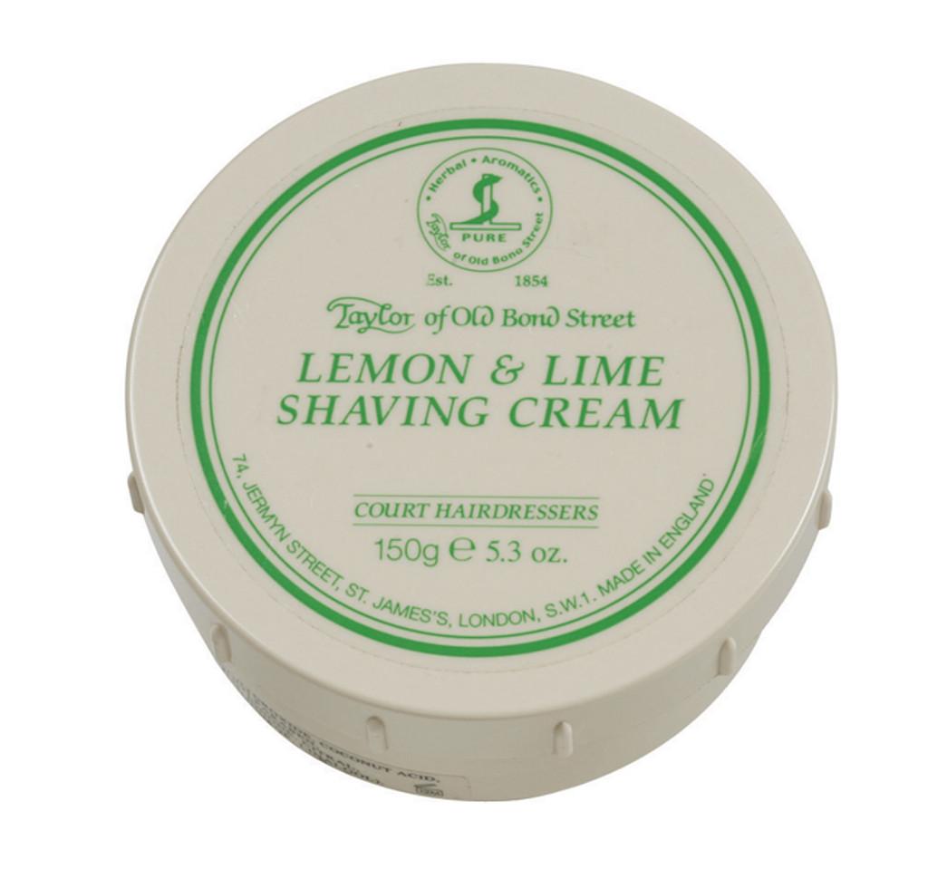 Taylor of Old Bond Street Shaving Cream - Lemon & Lime 150g   Agent Shave   Traditional Wet Shaving