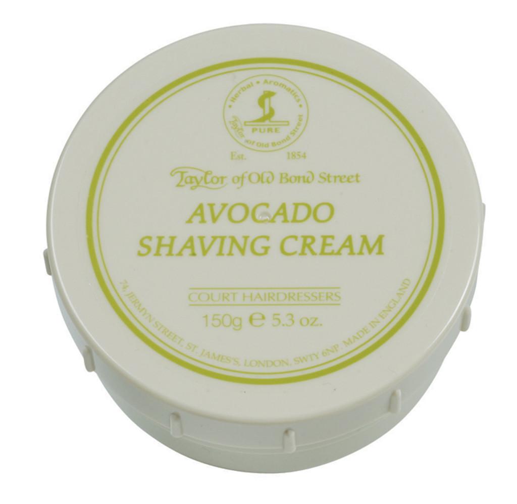 Taylor of Old Bond Street - Avocado Shaving Cream 150g   Agent Shave   Traditional Wet Shaving