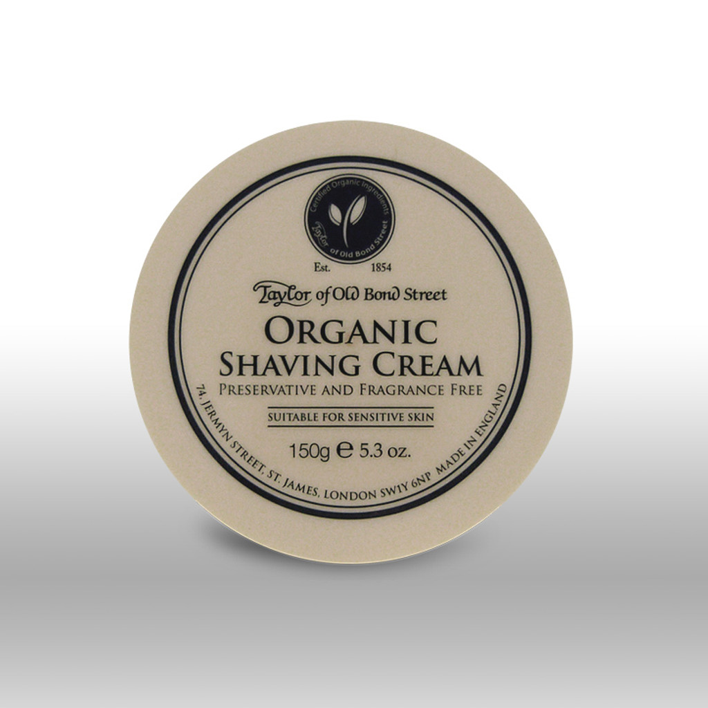 Taylor of Old Bond Street - Organic Shaving Cream 150g | Agent Shave | Wet Shaving Supplies UK