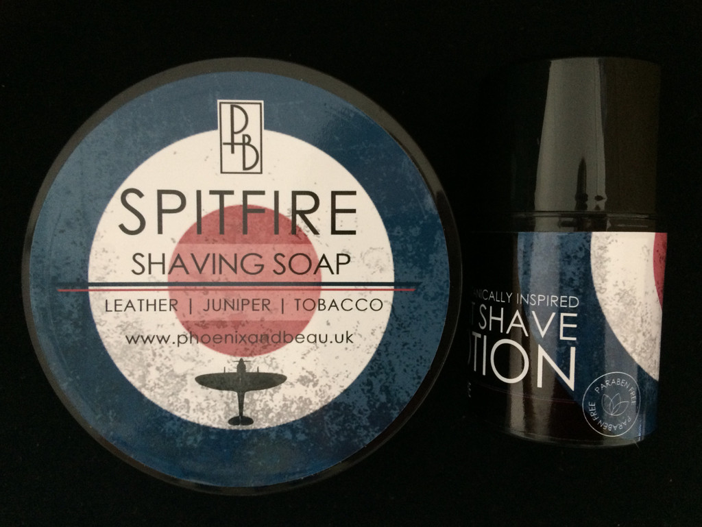 Phoenix and Beau - Spitfire Shaving Soap & Post Shave Lotion | Agent Shave | Wet Shaving Supplies UK