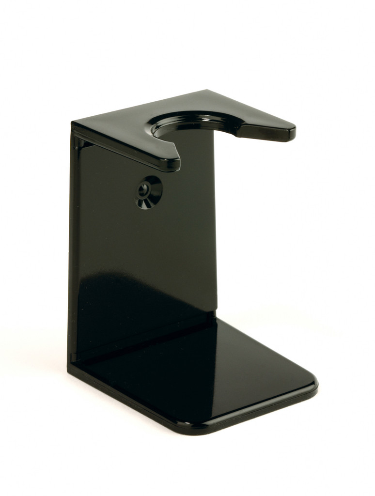 Edwin Jagger Shaving Brush Drip Stand - Black   Agent Shave   Traditional Wet Shaving Supplies UK