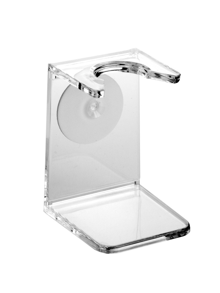 Edwin Jagger Clear Shaving Brush Drip Stand | Agent Shave | Wet Shaving Supplies UK