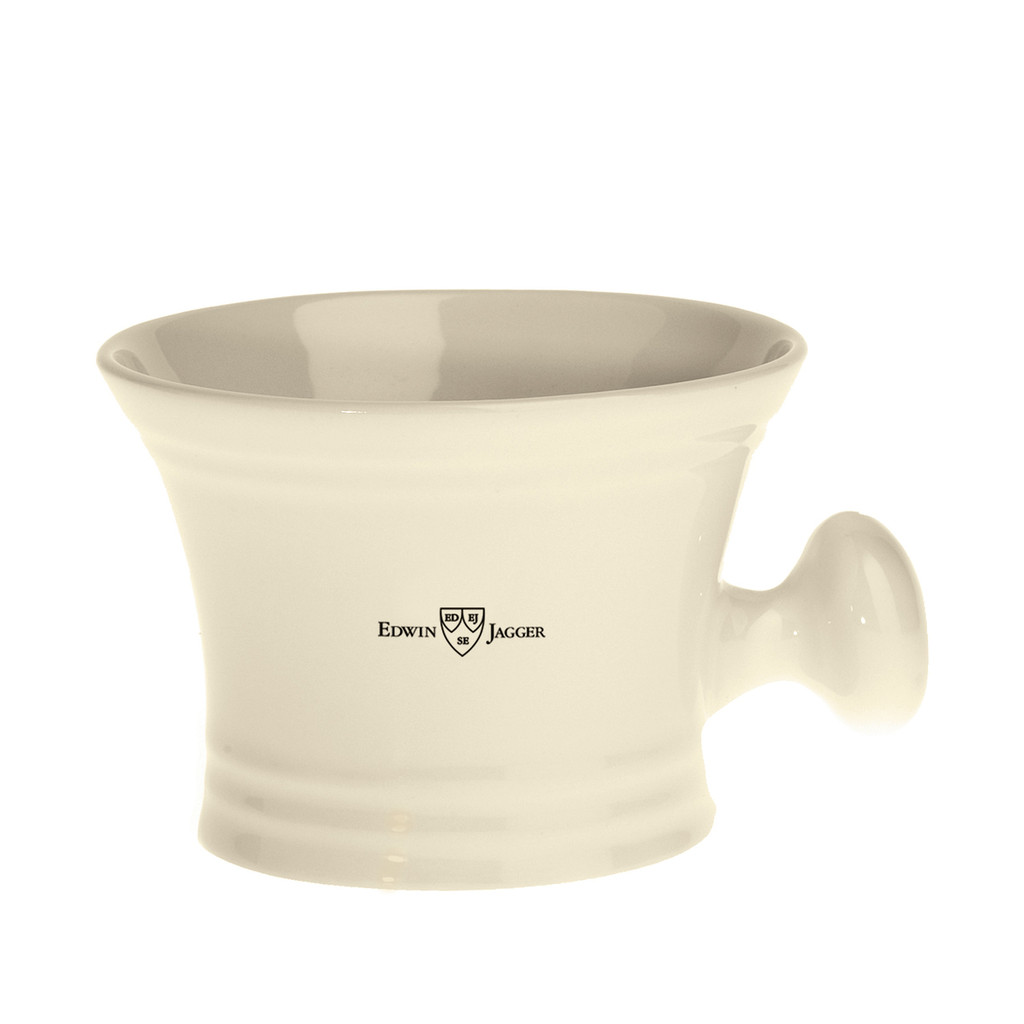 Edwin Jagger Ivory Porcelain Soap Bowl with handle | Agent Shave