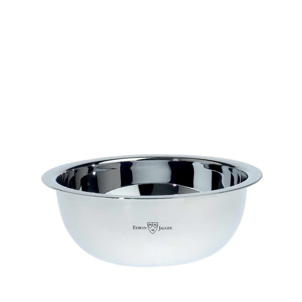 Edwin Jagger Polished Stainless Steel Shaving Soap Bowl | Agent Shave | Wet Shaving Supplies Uk