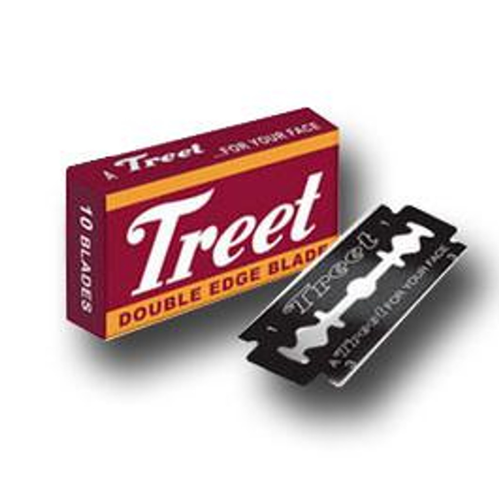 Treet Carbon Steel Black Beauty Double Edge Razor Blades | Agent Shave | Traditional Wet Shaving