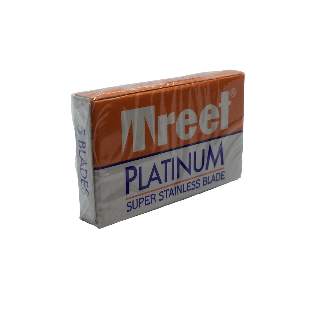 Treet Platinum Super Stainless Razor Blades 5   Agent Shave   Wet Shaving Supplies UK