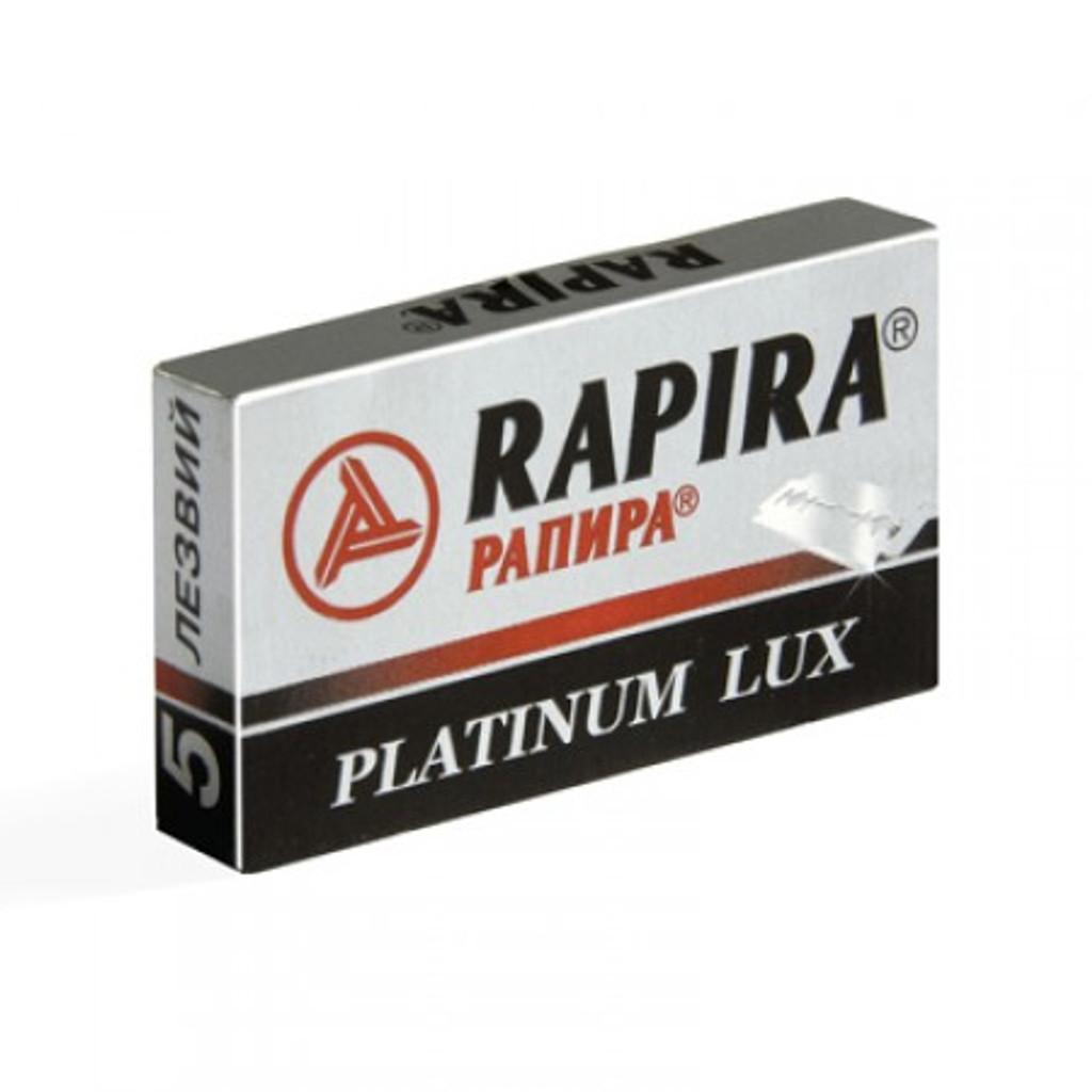 Rapira 'Platinum Lux' Double Edge Safety Razor Blades | Agent Shave | Wet Shaving Supplies Uk