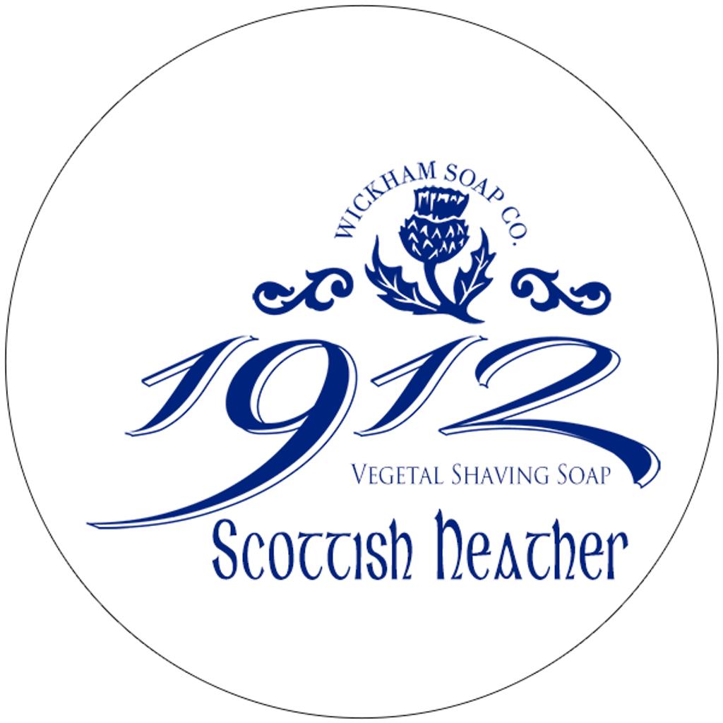 Wickham Soap Co 1912 Shaving Soap - Scottish Heather   Agent Shave   Traditional Wet Shaving