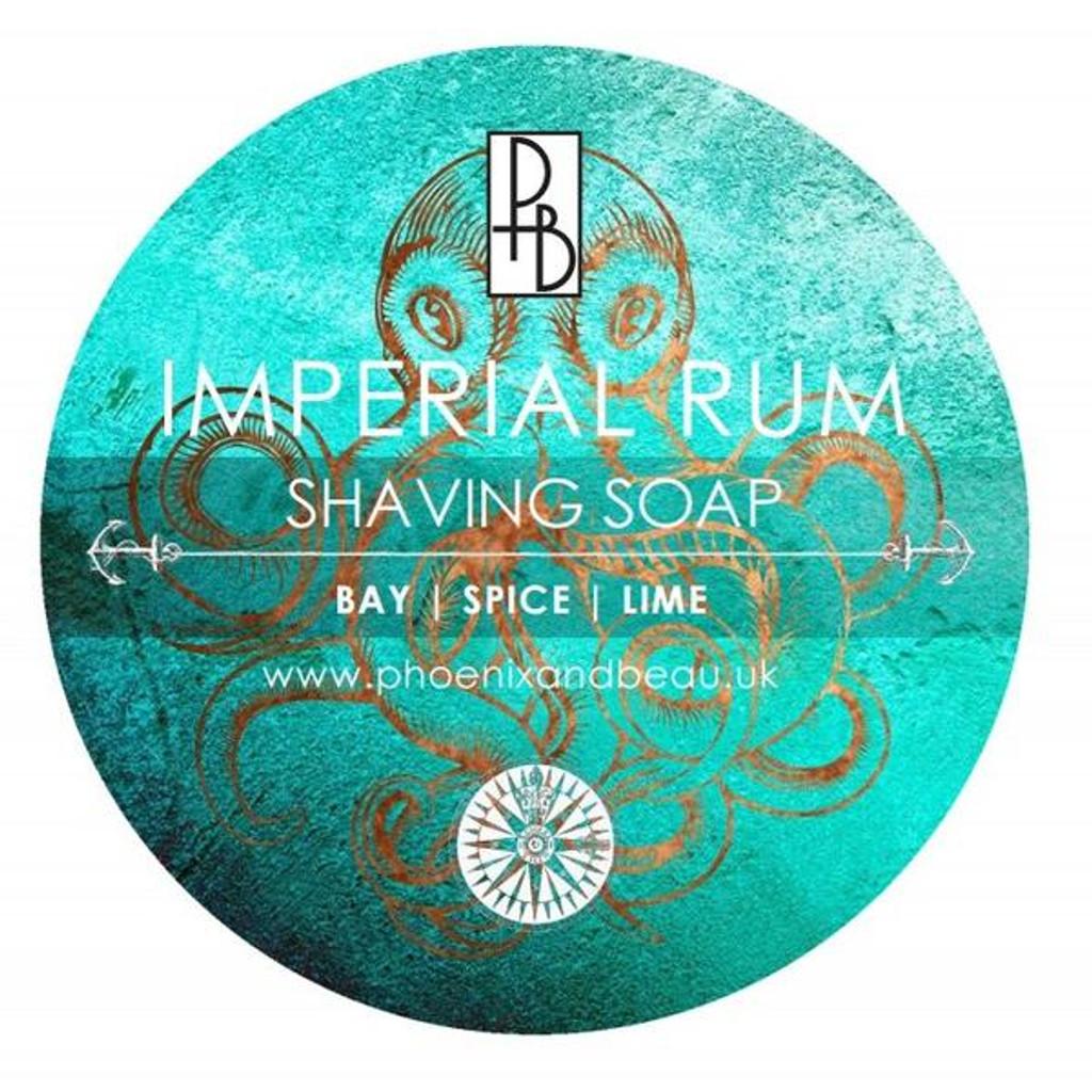 Phoenix & Beau Imperial Rum Shaving Soap  Bay, Spice & Lime   Agent Shave   Wet Shaving Supplies UK