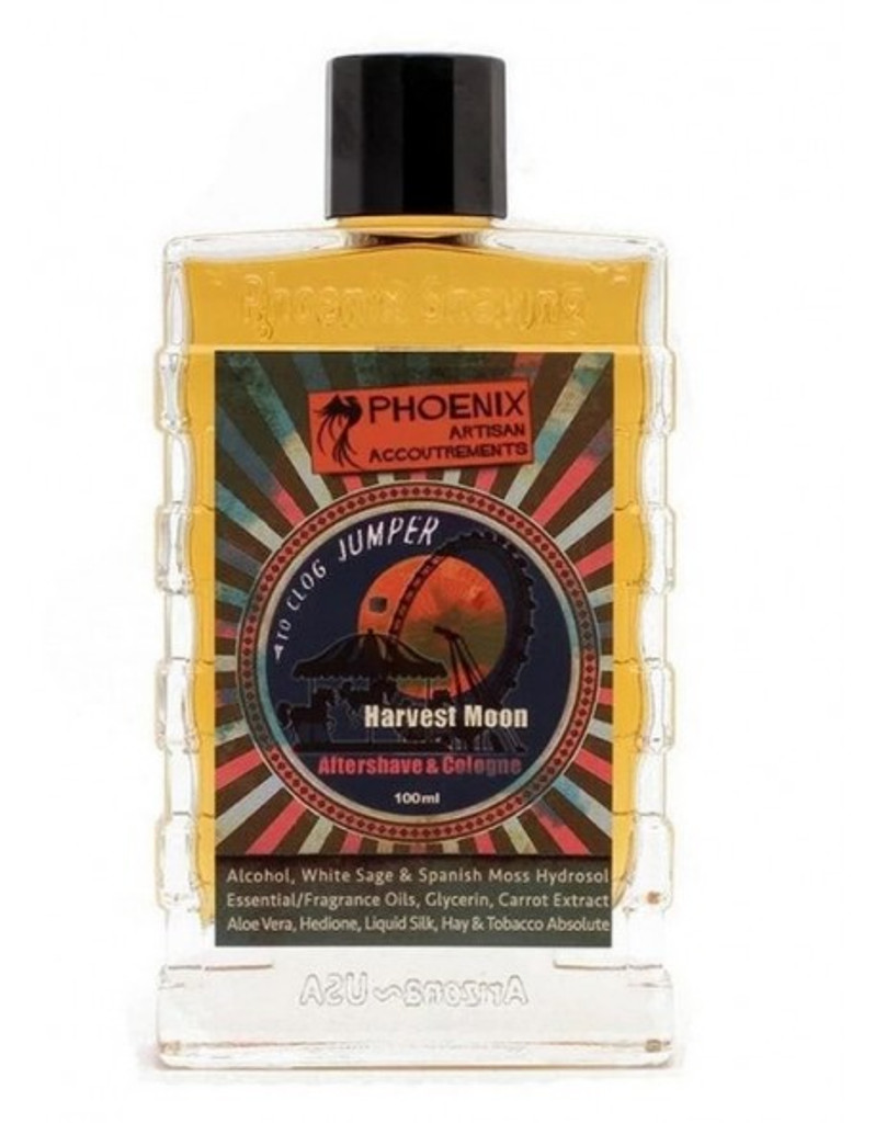 Phoenix Artisan Accoutrements Harvest Moon Aftershave & Cologne 100ml   Agent Shave   Wet Shaving Supplies UK