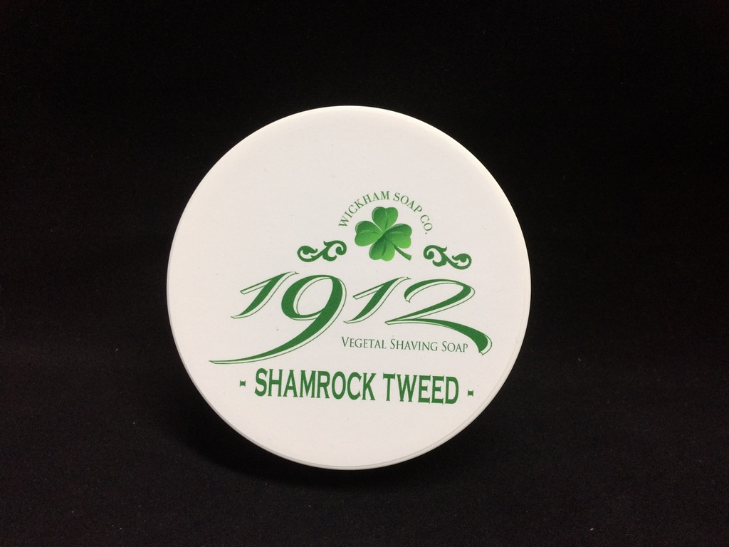 Wickham Soap Co 1912 Shaving Soap - Shamrock Tweed | Agent Shave | Traditional Wet Shaving