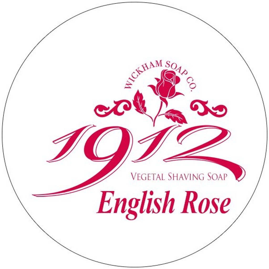 Wickham Soap Co 1912 Shaving Soap - English Rose | Agent Shave | Traditional Wet Shaving