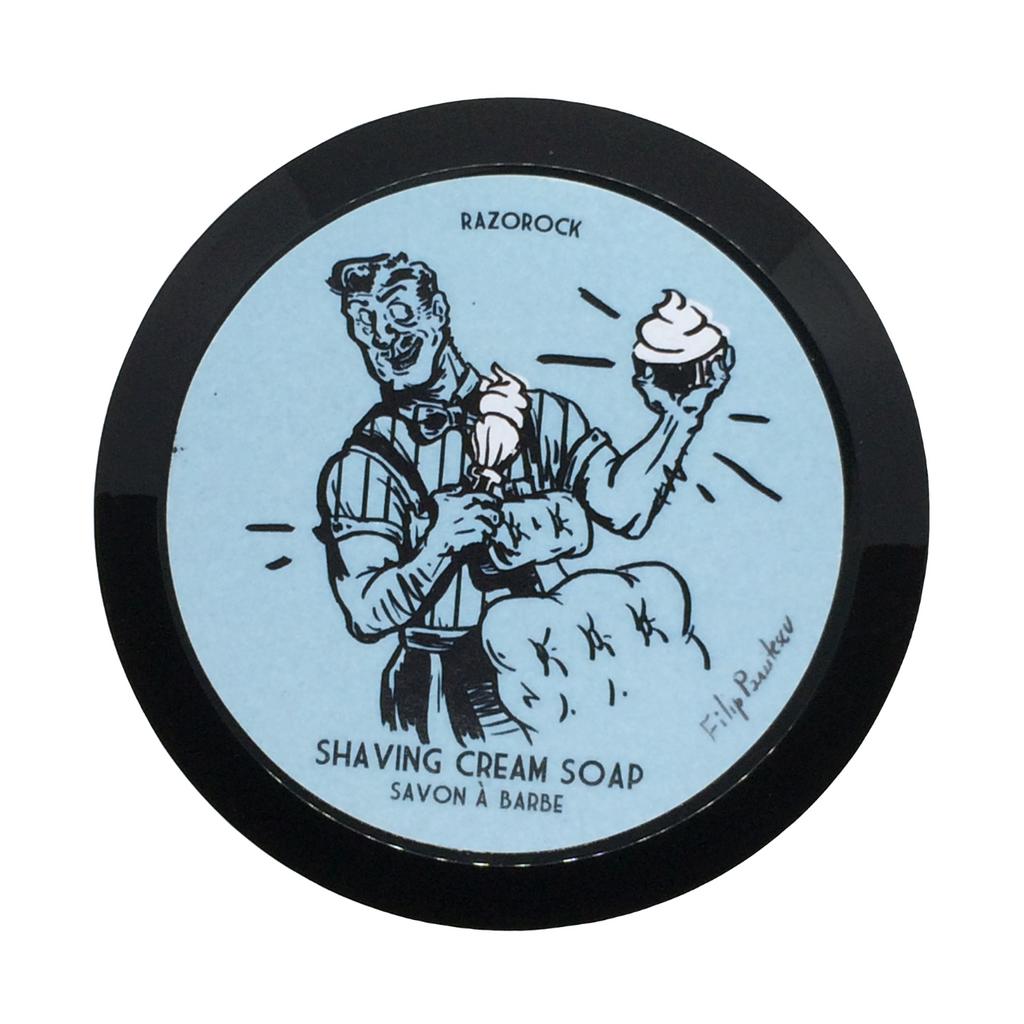 RazoRock Blue Barbershop Shaving Cream Soap 150ml | Agent Shave | Wet Shaving Supplies UK