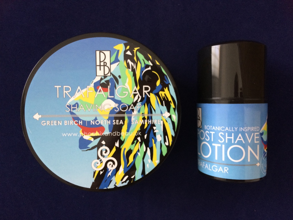 Phoenix and Beau Trafalgar Shaving Soap & Post Shave Lotion | Agent Shave | Traditional Wet Shaving