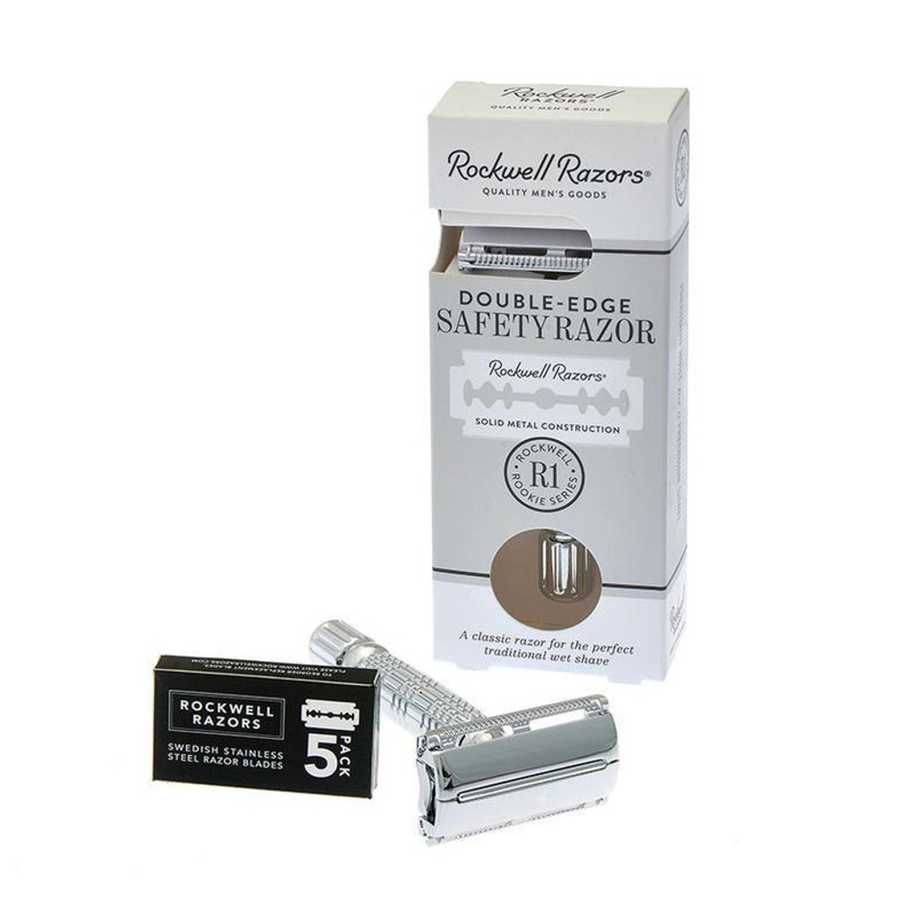 Rockwell Razors R1 Double Edge Safety Razor | Agent Shave | Traditional Wet Shaving