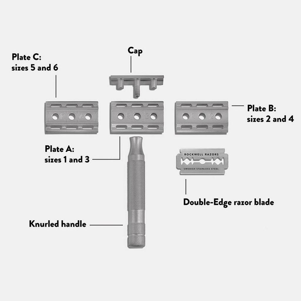 Rockwell 6S Adjustable Safety Razor | Agent Shave | Wet Shaving Supplies UK