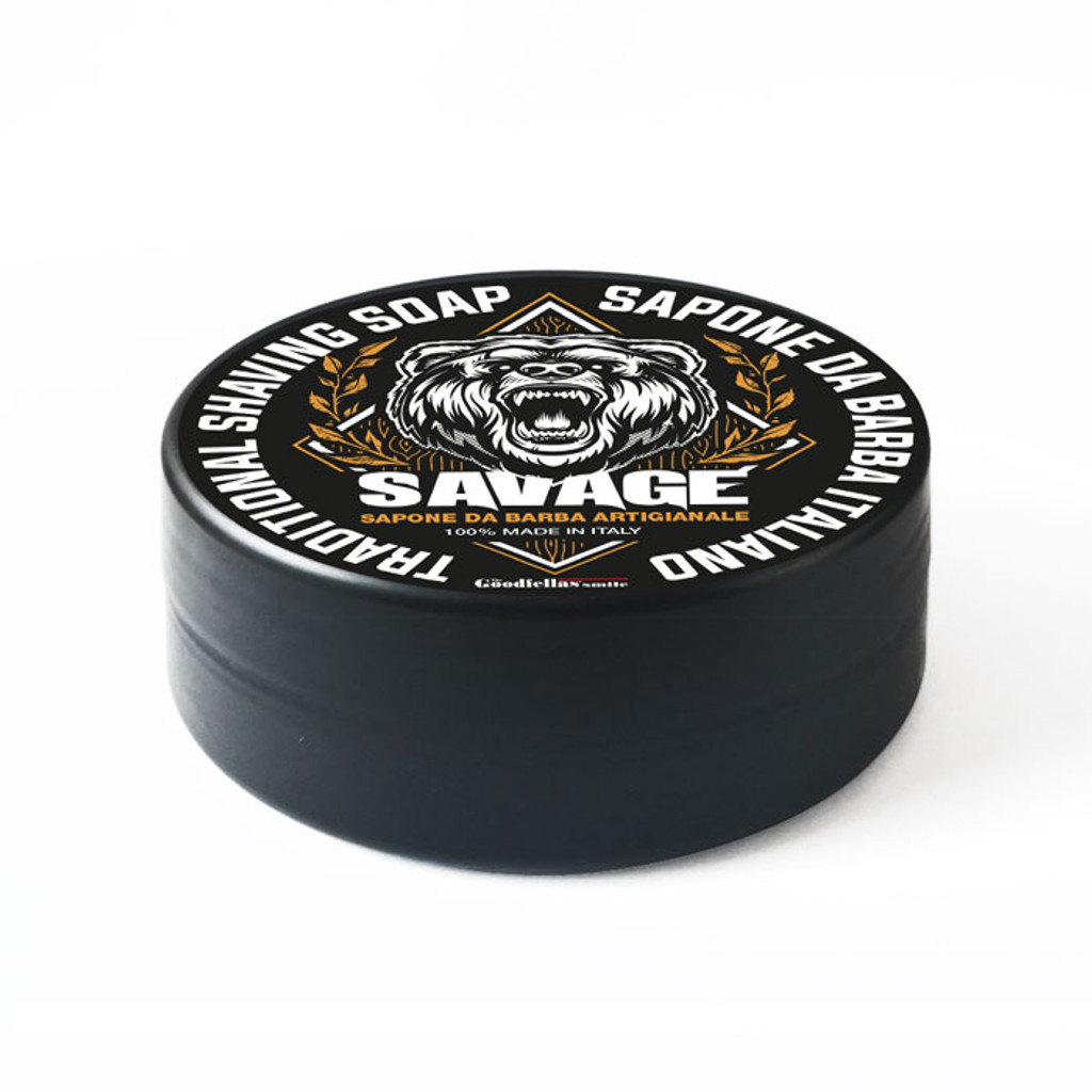 The Goodfellas Smile Savage Traditional Shaving Soap 100ml | Made in Italy | Agent Shave