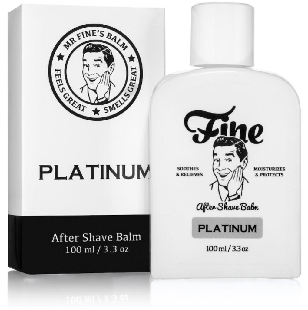 Fine Platinum After Shave Balm 100ml   Agent Shave   Traditional Wet Shaving