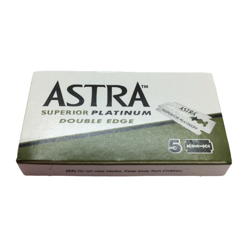 Astra Superior Platinum Double Edge Razor Blades x 5 | Agent Shave | Wet Shaving Supplies UK