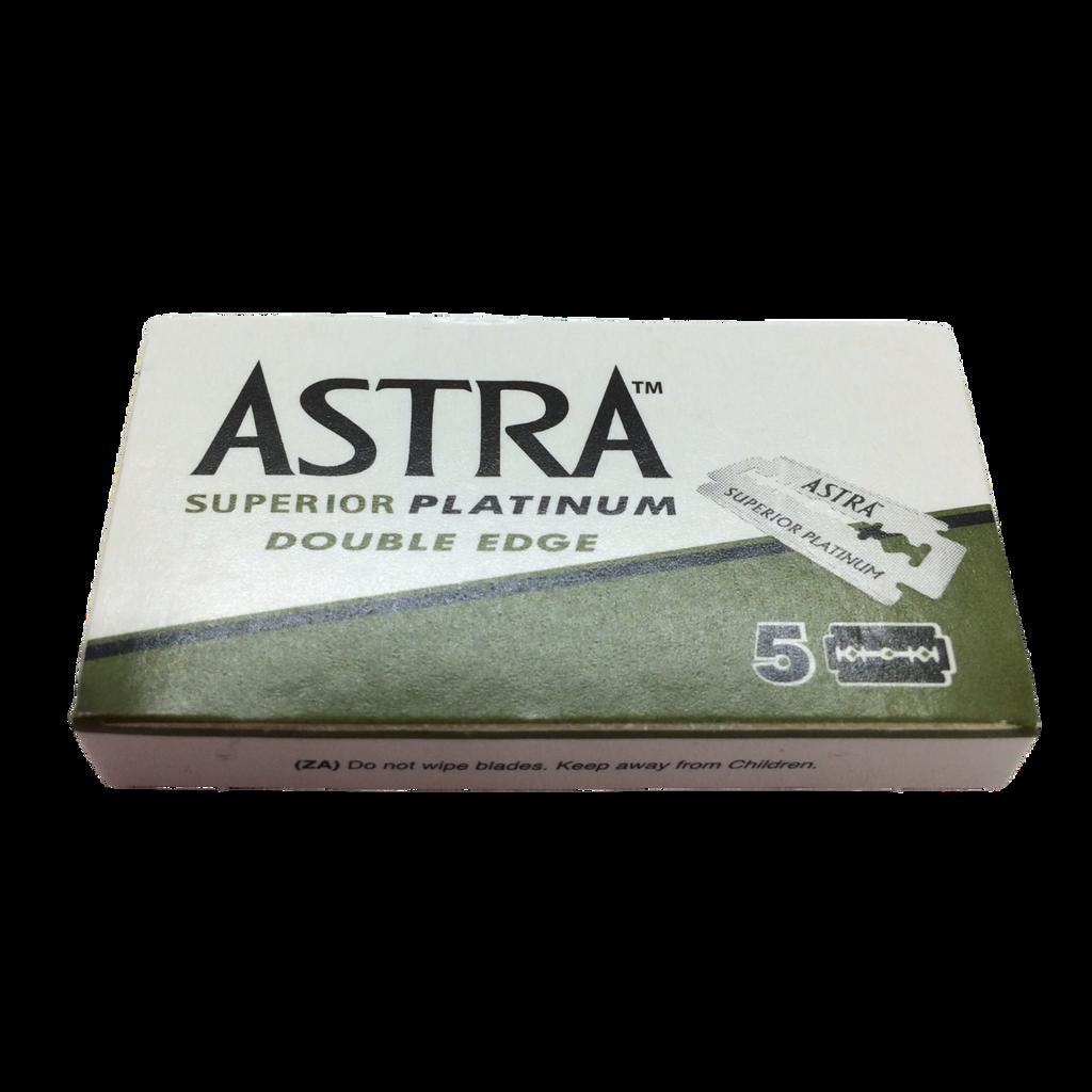 Astra Superior Platinum Double Edge Razor Blades x 5   Agent Shave   Wet Shaving Supplies UK