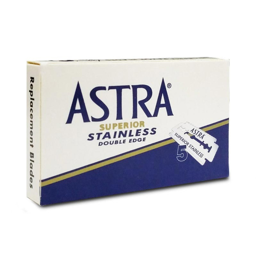 Astra Superior Stainless Double Edge Safety Razor Blade   Agent Shave   Wet Shaving Supplies UK