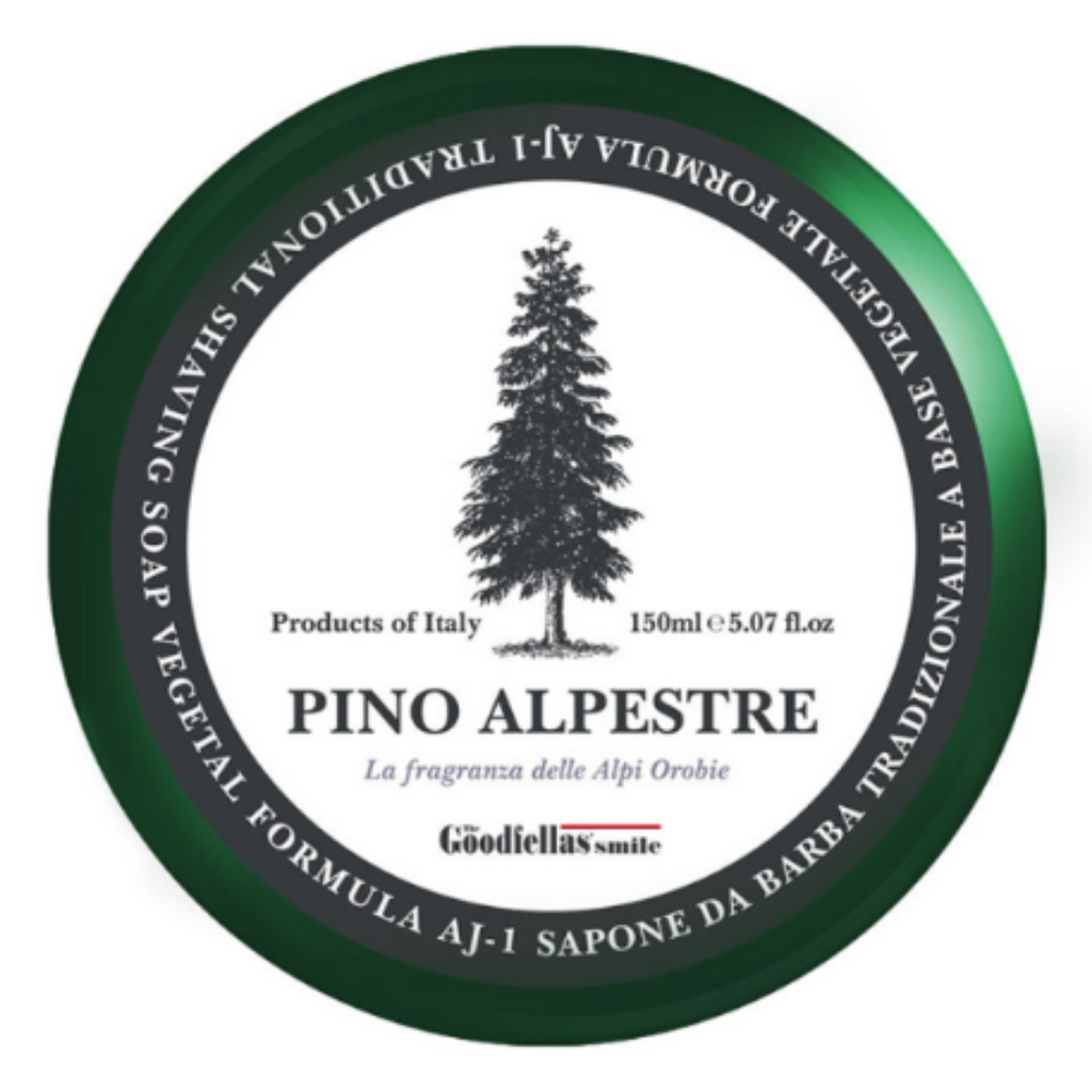The Goodfellas Smile Pino Alpestre Shaving Soap | Agent Shave | Wet Shaving Supplies UK
