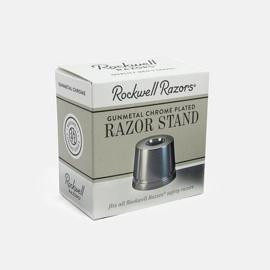 Rockwell Gunmetal Safety Razor Stand 2C, 6C, 6S, Model T | Agent Shave | Wet Shaving Supplies UK