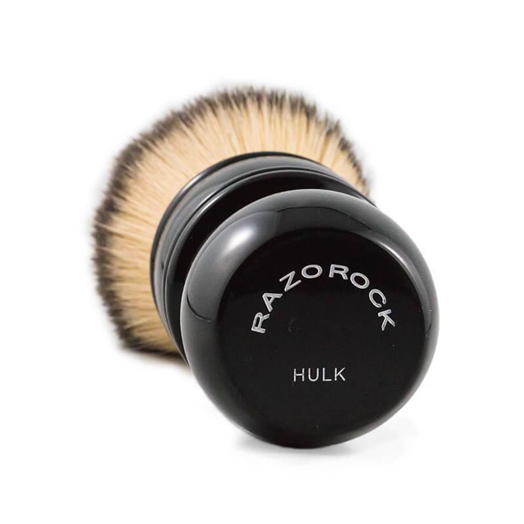 RazoRock The Hulk Plissoft Synthetic Shaving Brush | Agent Shave | Wet Shaving Supplies UK