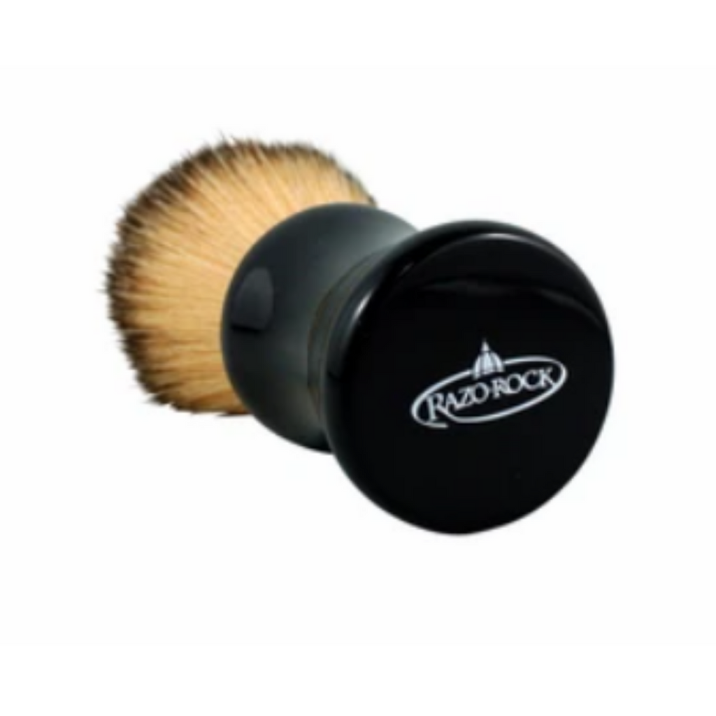 RazoRock Bruce Shaving Brush - 24mm Plissoft Synthetic Knot   Agent Shave   Wet Shaving Supplies UK