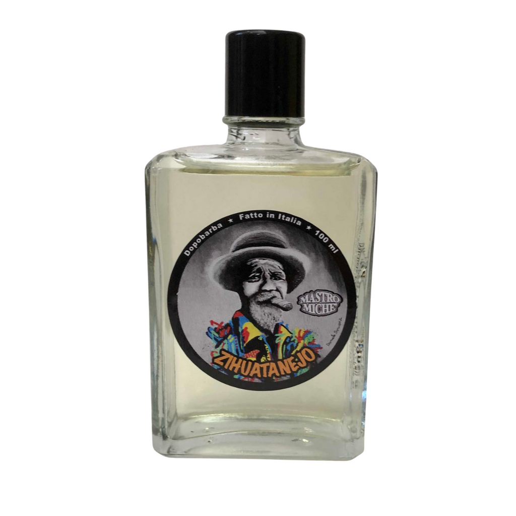 Mastro Miche Zihuatanejo Aftershave 100ml | Artisan handmade in Italy | Agent Shave | Wet Shaving Supplies UK