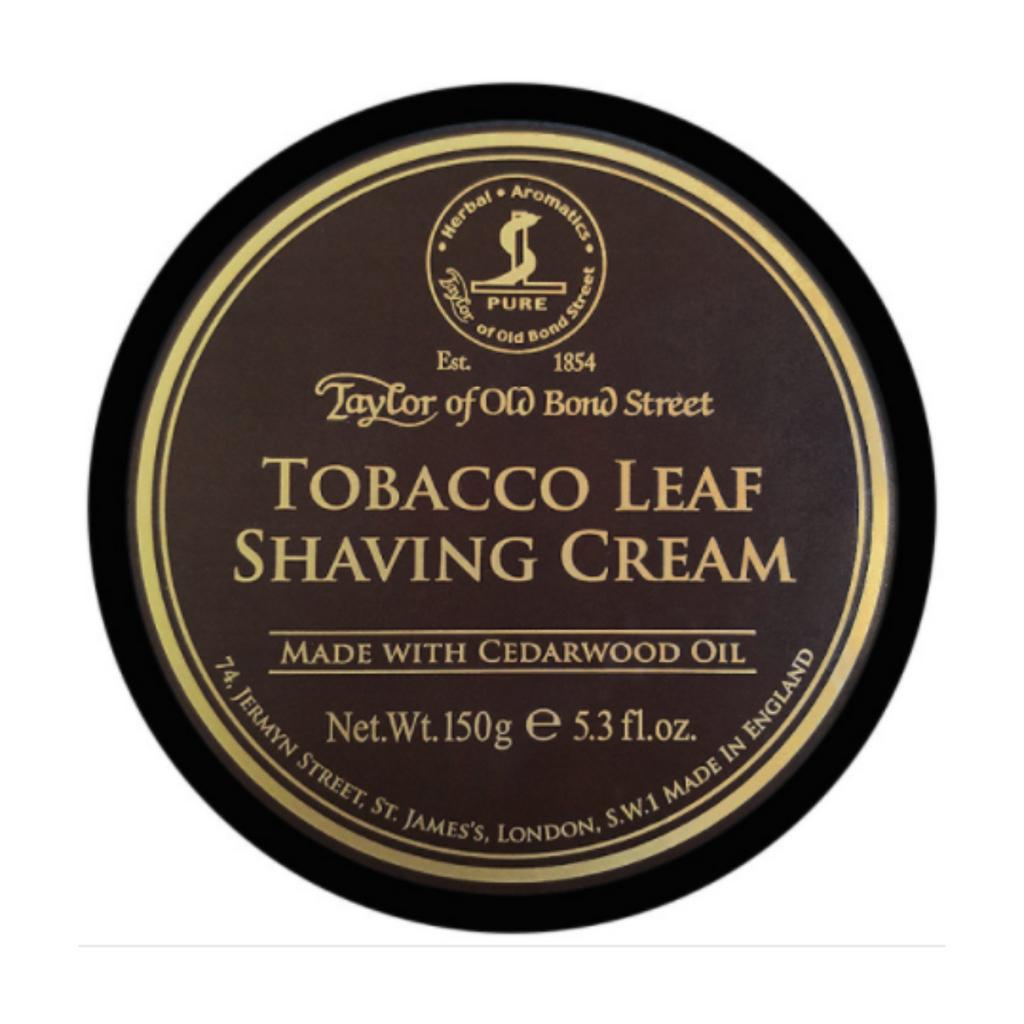 Taylor of Old Bond Street Tobacco Leaf Shaving Cream | Agent Shave | Wet Shaving Supplies Uk