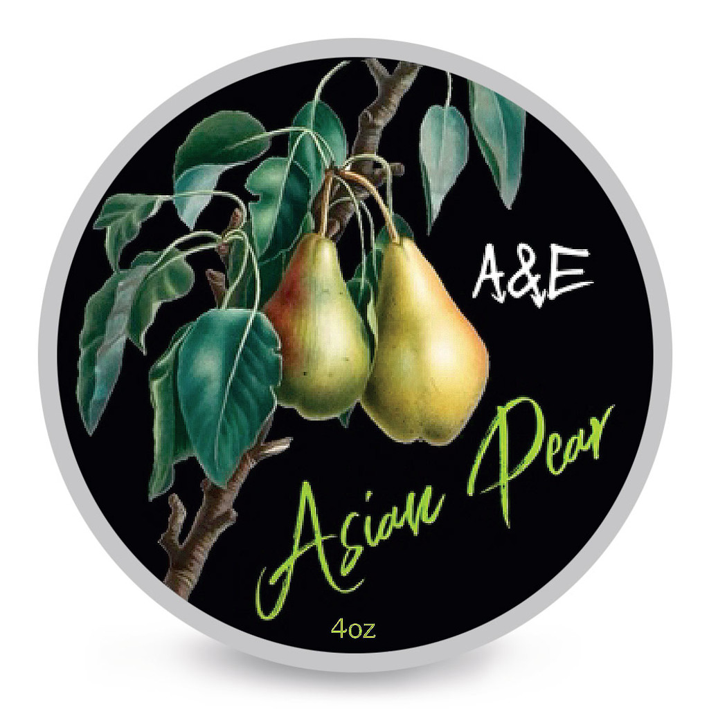 Ariana & Evans Asian Pear Shaving Soap 4oz | Agent Shave | Wet Shaving Supplies UK