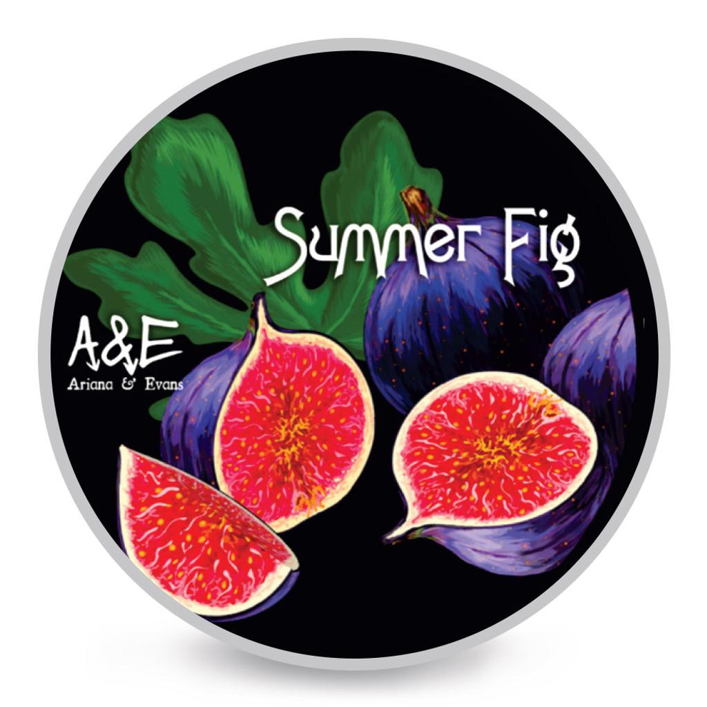 Ariana & Evans A&E Summer Fig Shaving Soap 4oz   Agent Shave   Wet Shaving Supplies UK
