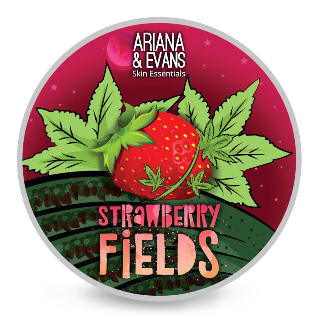 Ariana & Evans Strawberry Fields Shaving Soap 4oz | Agent Shave | Wet Shaving Supplies UK
