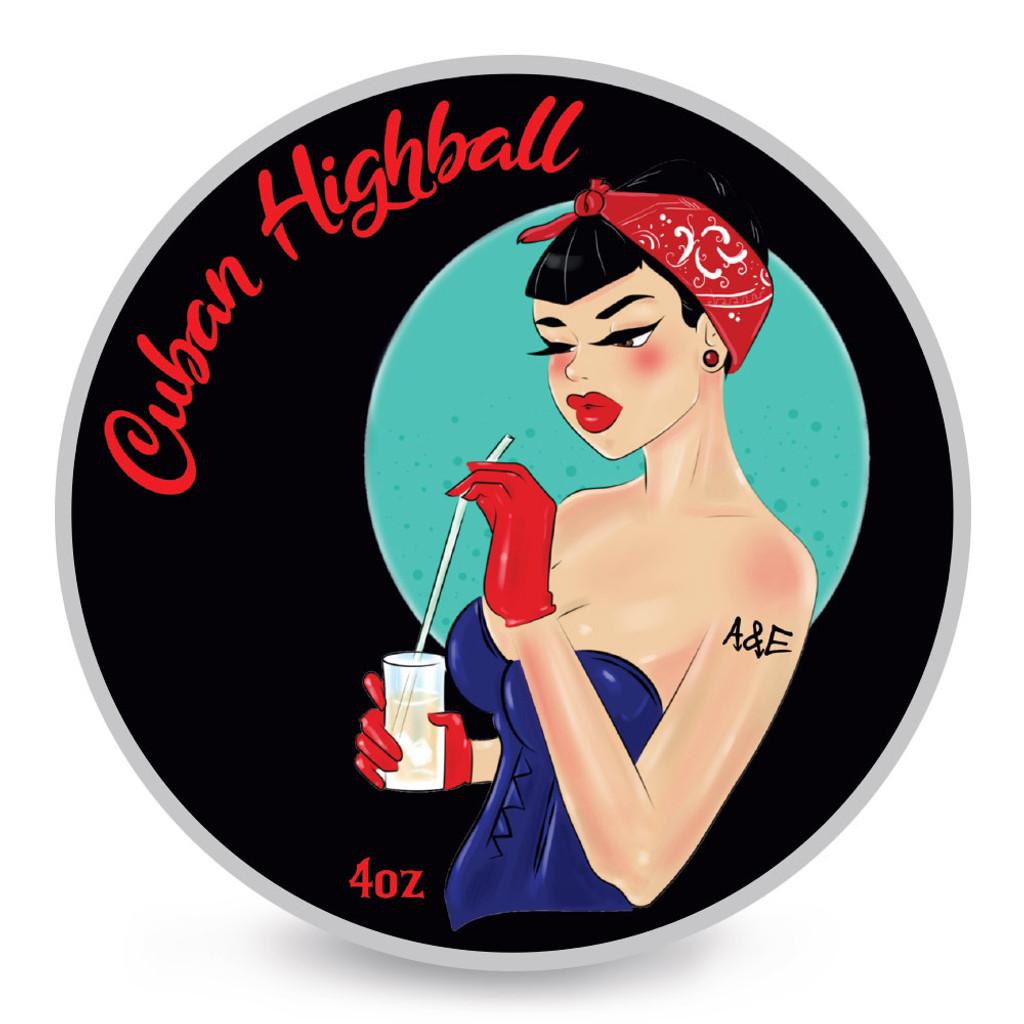 Ariana & Evans Cuban Highball Shaving Soap 4oz | Agent Shave | Wet Shaving Supplies UK