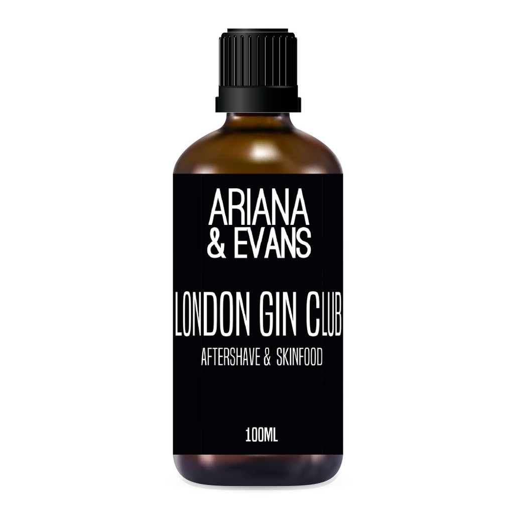 Ariana & Evans London Gin Club Aftershave 100ml   Agent Shave   Wet Shaving Supplies UK
