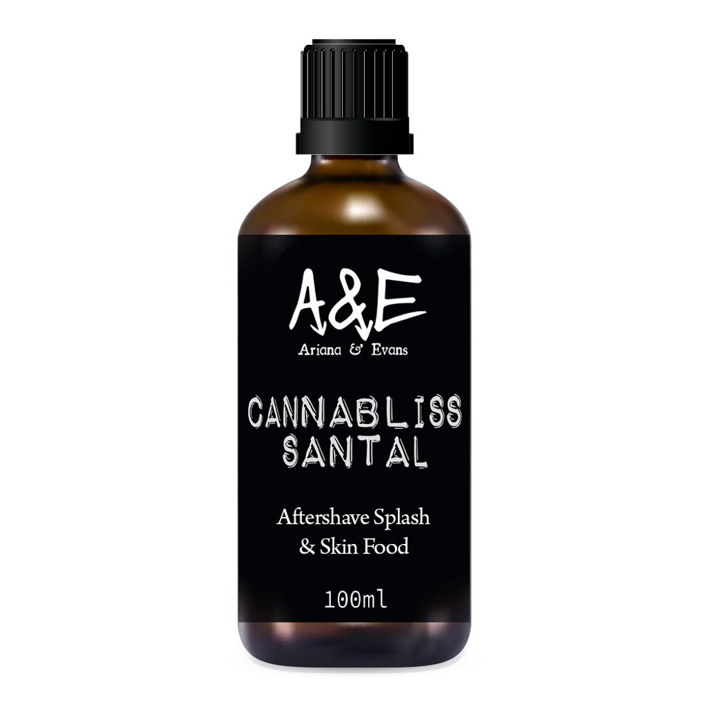 Ariana & Evans Canabliss Santal Aftershave 100ml | Agent Shave | Wet Shaving Supplies UK