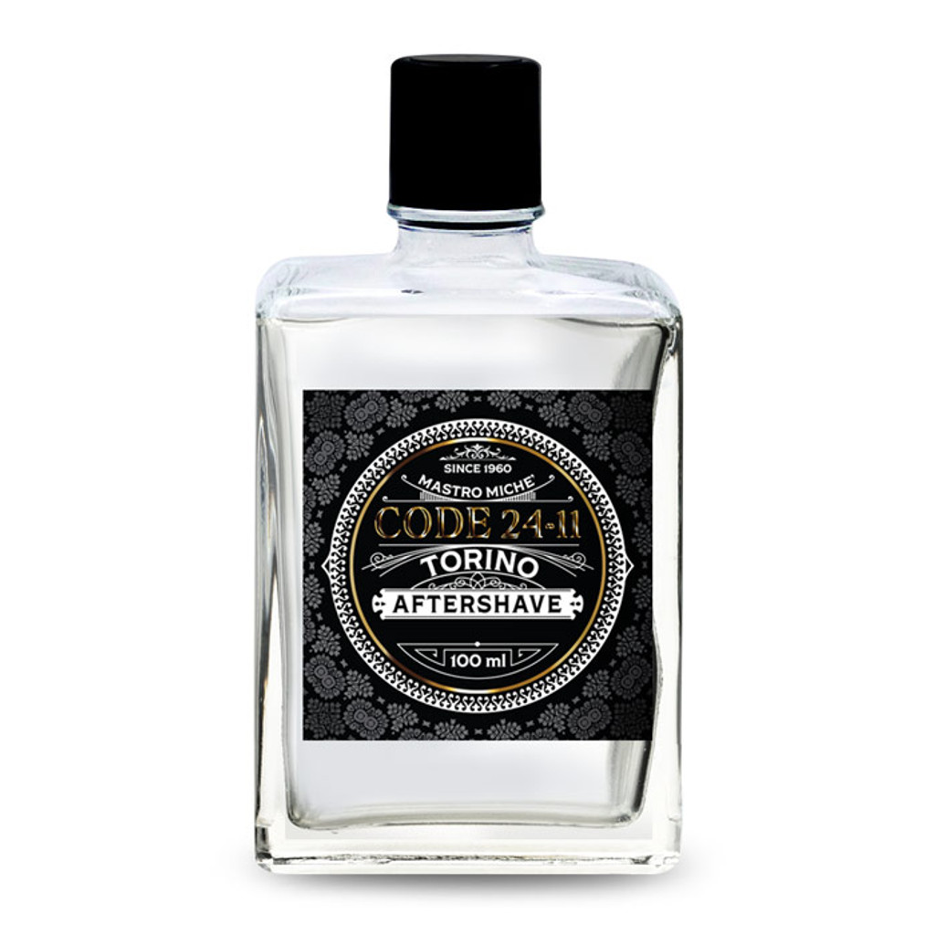 Mastro Miche Code 24-11 Torino Aftershave 100ml   Agent Shave   Wet Shaving Supplies UK