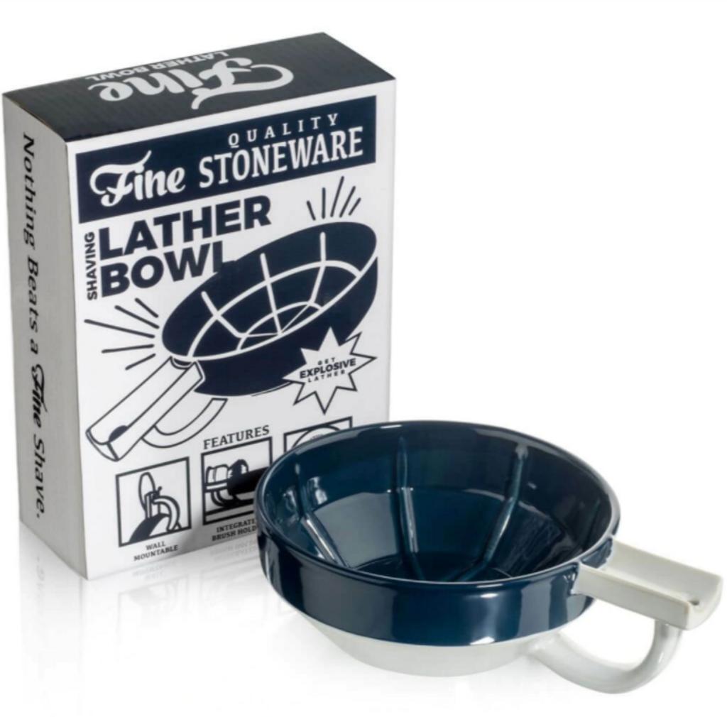 Fine Shaving Bowl - Brown & White   Agent Shave   Wet Shaving Supplies UK