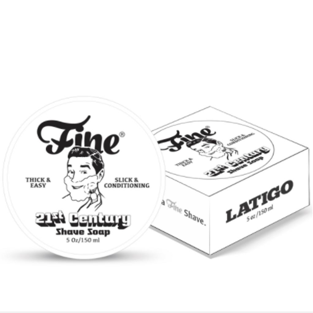 Fine Latigo 21st Century Shaving Soap 150ml | Agent Shave | Wet Shaving Supplies UK