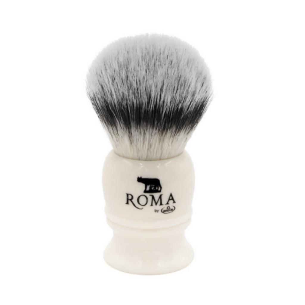 Omega Roma Capitoline Lupa Synthetic 26mm Shaving Brush   Agent Shave   Wet Shaving Supplies UK